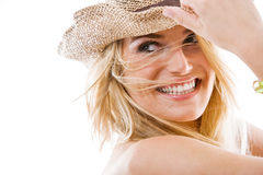 Vivacious healthy beautiful blond woman Stock Images