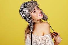 Vivacious lächelnde Blondine Stockbild