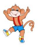 Vivacious monkey. Digital illustration of vivacious monkey, realized with photoshop Royalty Free Stock Images