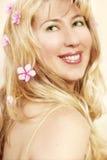 Vivacious Smile. Young happy woman with vivacious smile Royalty Free Stock Photos