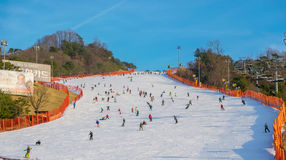 Vivaldi parkerar Ski Resort Arkivbilder