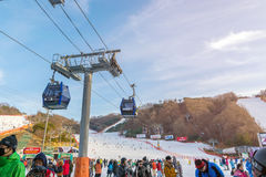 Vivaldi parkerar Ski Resort Arkivfoto