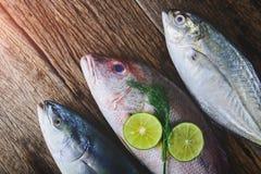 Vivaneau et poissons de mer frais photographie stock libre de droits
