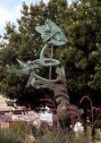 ` Vivant de ` par Andrew Rogers, Hall Park, Frisco, le Texas Image stock
