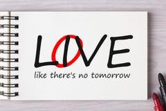 Vivant, l'amour comme là est aucun demain Photos libres de droits