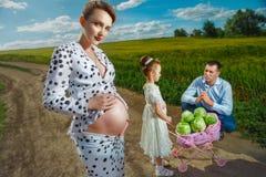 Vivant une grossesse heureuse Image libre de droits