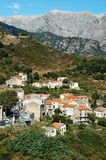 Vivario village, Corsica. The village of Vivario, Haute-Corse, Corsica, France Royalty Free Stock Images