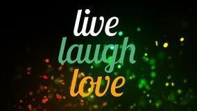 vive el texto del amor de la risa almacen de metraje de vídeo