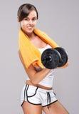 Vive um estilo de vida saudável!  Seja corpo muscular! foto de stock royalty free