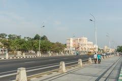 Vivekananda hus, också, bekant som ishuset är ett viktigt ställe för den Ramakrishna rörelsen i södra Indien arkivbild