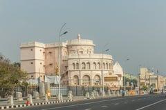 Vivekananda hus, också, bekant som ishuset är ett viktigt ställe för den Ramakrishna rörelsen i södra Indien royaltyfri foto