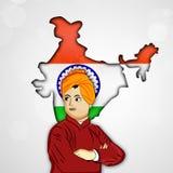 Vivekananda Jayanti or National Youth Day background Stock Photos
