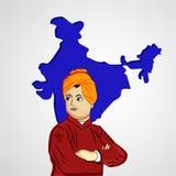 Vivekananda Jayanti or National Youth Day background Stock Image