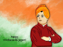 Vivekananda Jayanti or National Youth Day background Stock Photography