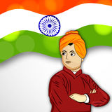 Vivekananda Jayanti or National Youth Day background Royalty Free Stock Photography