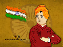 Vivekananda Jayanti or National Youth Day background Royalty Free Stock Photo