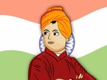 Vivekananda Jayanti or National Youth Day background Royalty Free Stock Photos