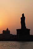 Vivekananda and Thiruvalluvar statues Stock Image