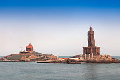 Vivekananda and Thiruvalluvar statues Royalty Free Stock Image