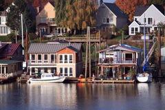 Vivendo sull'acqua, Portland Oregon. Fotografia Stock Libera da Diritti