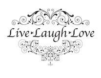 Vivent l'amour de rire Photo libre de droits