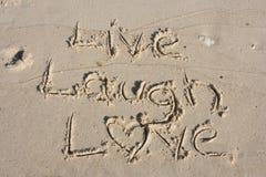 Vivent l'amour de rire Image stock