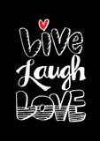 Vivent l'amour de rire Images libres de droits