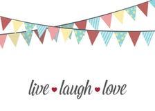 Vivent l'amour de rire Vecteur Image stock