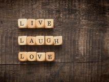 Vivent le concept d'amour de rire Image stock