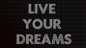 Vivent vos rêves illustration stock