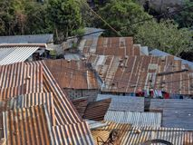 Vivere difficile a Città del Guatemala immagine stock