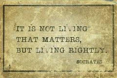 Vivere giustamente Socrates fotografie stock libere da diritti