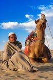 Vivez dans le désert de Thar Photos libres de droits
