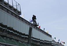 Vivez du toit de la pagoda d'Indianapolis Motor Speedway Photographie stock libre de droits