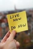 Vivez font maintenant maintenant Image libre de droits