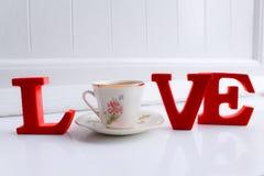 Vivez pour l'amour du thé Photo stock