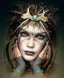 Vivi Mask with Fantasy Headdress, 3d CG Stock Image