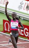 Vivian Cheruiyot (KEN). Winner othe 150300 meters in Lausanne for the diamond league meeting,Stade de la pontaise,Lausanne 8 july 2010 Royalty Free Stock Images