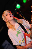 Vivian Girls (band from Brooklyn) perfoms at Razzmatazz stage Royalty Free Stock Photo