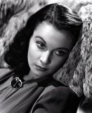 Vivian Leigh portrait in black and white