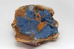 Vivianite or iron phosphate from New Zealand. A specimen of vivianite or iron phosphate, from the Hope Saddle, Nelson, New Zealand Stock Photo