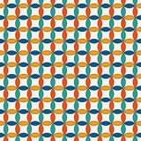 Vivid abstract background with overlapping circles. Petals motif. Seamless pattern with classic geometric ornament. Vivid colors abstract background with Stock Illustration