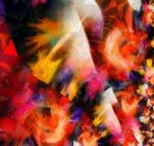Vivid Abstract. Brush Strokes Canvas Stock Photo