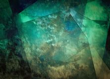 Vivid Abstract. In deep greens Royalty Free Stock Photography