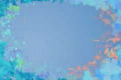 Vivid abstract painting background framed with brushstrokes Royalty Free Stock Images