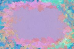 Vivid abstract painting background framed with brushstrokes. Interesting joyful vivid colorful backgrounds of dynamic brush strokes Royalty Free Stock Photography