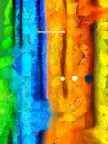 Vivid Abstract. Brush strokes. Oil on canvas Royalty Free Stock Photos