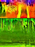Vivid Abstract. Vivid canvas with paint drops Royalty Free Stock Photography