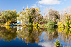 Vivid autumn picturesque scenery Royalty Free Stock Photography