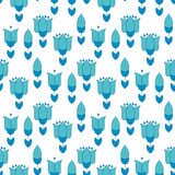 Vivid blue color abstract tulip flower motif. Royalty Free Stock Photos